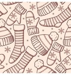 Winter clothes seamless vector