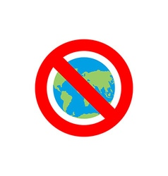 Stop earth forbidden world atlas frozen world vector