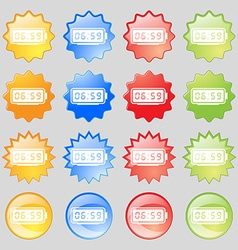 Alarm clock icon sign big set of 16 colorful vector