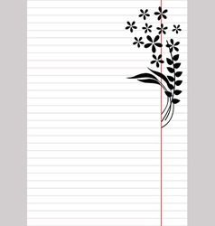 Blank for letter or greeting card vector