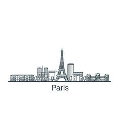 Outline paris banner vector
