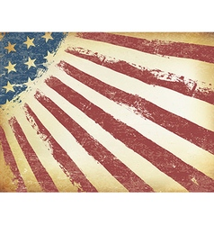 Grunge Aged American Flag Background Horizontal vector image