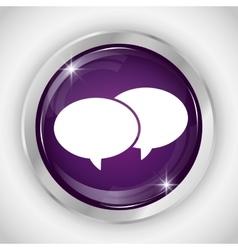 Chat button icon social media design vector