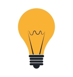 Bulb or big idea isolated symbol vector