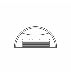 Round barn icon outline style vector