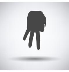 Baseball catcher gesture icon vector