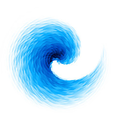 Abstract blue swirl vector