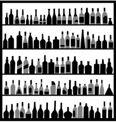 alcohol bottles vector image vector image