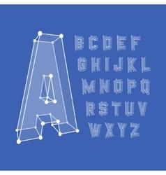 Alphabet set 3d Design vector image vector image