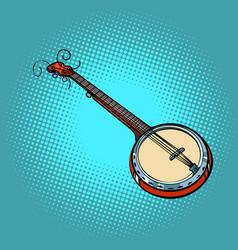 banjo musical instrument vector image vector image