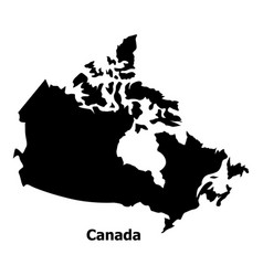 Canada Map Icon Simple Style Vector