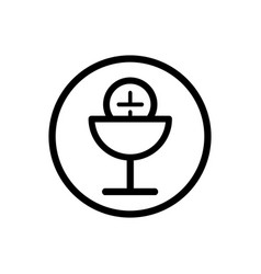 communion line icon on a white background vector image