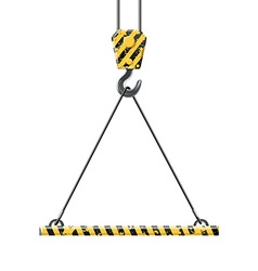 Crane lifts the platform vector