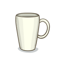 digital painting cup vector image vector image