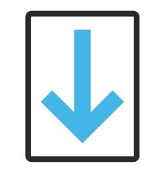 Down arrow framed icon vector
