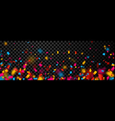 festive banner with colorful confetti vector image