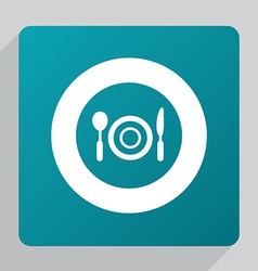 Flat restaurant icon vector