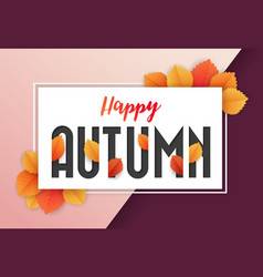 happy autumn background design vector image vector image
