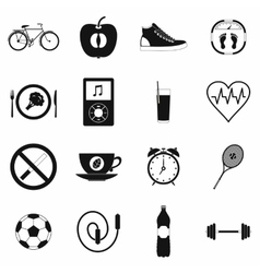 Healthy life style simple set vector