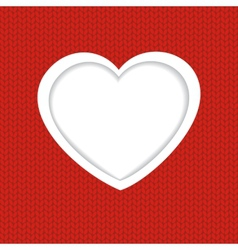 Holiday Heart from paper Valentines day vector image