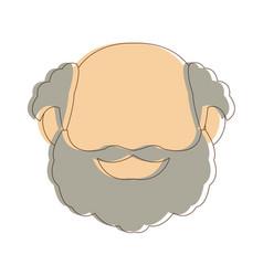 Portrait grandfather man family person vector