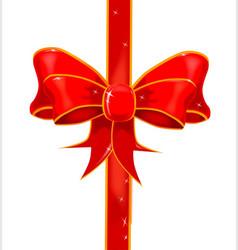 Pretty ribbon bow vector