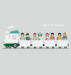Railway children vector