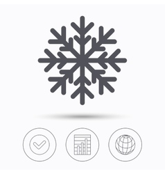 Snowflake icon Air conditioning sign vector image vector image