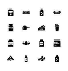 sport supplements - flat icons vector image