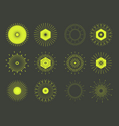 Sun burst shapesminimal black firework burst vector