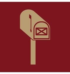 The mailbox icon mail postal post office symbol vector