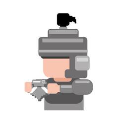 warrior pixelated videogame vector image vector image