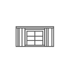 window with curtains icon in linear style vector image vector image