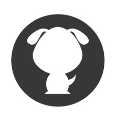 Cute animal silhouette isolated icon vector