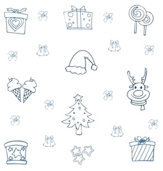 Flat hand draw christmas object of doodle vector