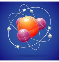 Atom model vector