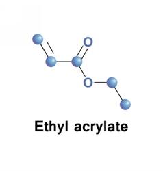Ethyl acrylate ester vector