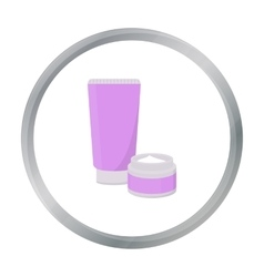 Body creams icon in cartoon style isolated on vector image