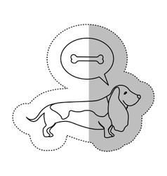 Monochrome contour middle shadow sticker with vector