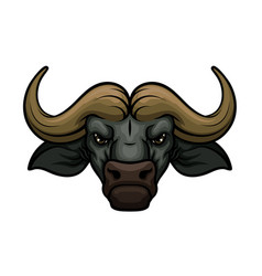 Buffalo head muzzle mascot icon vector