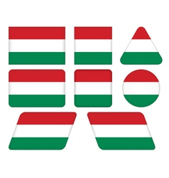 Buttons with flag of hungary vector