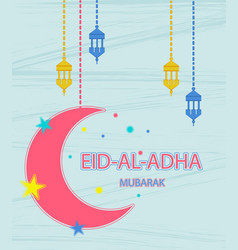 Festival of sacrifice eid al adha greeting card vector