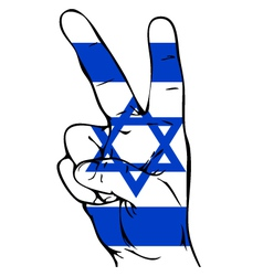 Peace Sign of the Israeli flag vector image