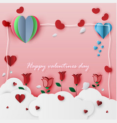 Valentines day card on a pink background vector