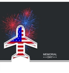 Modern memorial day or 4 july vector