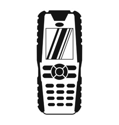 Mobile phone black simple icon vector
