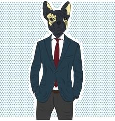 Hand drawn portrait of french bulldog vector image