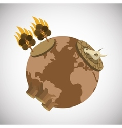 Global warming design vector
