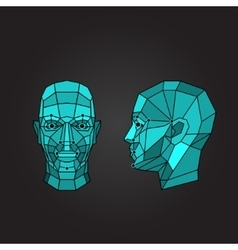 Face recognition and scanning - biometric security vector