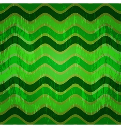 Seamless pattern with green waves vector